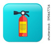 fire  extinguisher icon | Shutterstock .eps vector #590667716