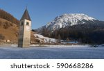 The Lake Of  Resia Is An...