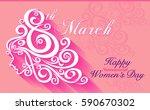 women s day greetings. vector... | Shutterstock .eps vector #590670302