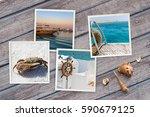 part of set. beautiful seaside...   Shutterstock . vector #590679125