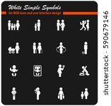 family vector icons for user... | Shutterstock .eps vector #590679146
