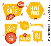 collection of premium promo... | Shutterstock .eps vector #590683766
