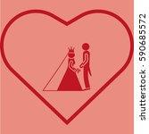 bride and groom | Shutterstock .eps vector #590685572