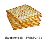 Small photo of Matzo (or matzah) is bread traditionally eaten by Jews during the week-long Passover holiday