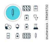 illustration of 12 medical... | Shutterstock . vector #590693732