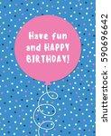 fun birthday card design with... | Shutterstock .eps vector #590696642