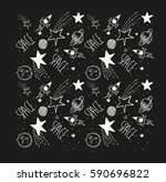 space galaxy patch illustration ... | Shutterstock .eps vector #590696822