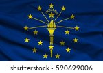 flag of indiana state  usa  | Shutterstock . vector #590699006