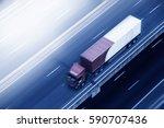 truck on highway motion blur. | Shutterstock . vector #590707436