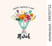 women's day illustration | Shutterstock .eps vector #590707712
