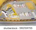 aerial view of parking lot with ... | Shutterstock . vector #590709755