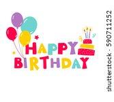 Birthday Vector Card With...