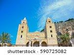 cefalu  maritime and tourist... | Shutterstock . vector #590725082