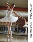 portrait of graceful ballerina... | Shutterstock . vector #590725262