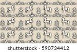 beige background with patterns... | Shutterstock . vector #590734412