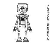 robot cartoon icon | Shutterstock .eps vector #590735342