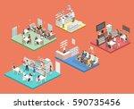 isometric flat 3d concept... | Shutterstock .eps vector #590735456
