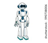 robot cartoon icon | Shutterstock .eps vector #590738006