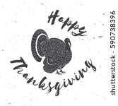 happy thanksgiving.... | Shutterstock . vector #590738396