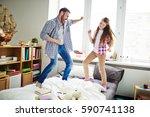 teenage daughter and her... | Shutterstock . vector #590741138