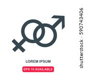 male and female symbol icon... | Shutterstock .eps vector #590743406