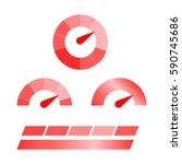 meter icons. symbols of...