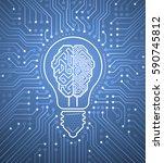 creative cybernetic brain.... | Shutterstock .eps vector #590745812