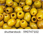 olive texture. olives as... | Shutterstock . vector #590747102