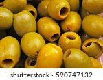 olive texture. olives as... | Shutterstock . vector #590747132