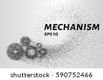 the mechanism of the particles. ... | Shutterstock .eps vector #590752466