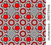 Red Vector Ethnic Elements...