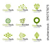 collection of logo templates.... | Shutterstock .eps vector #590757875