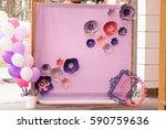 wedding photo zone. hand made... | Shutterstock . vector #590759636