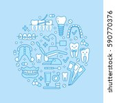 dentist  orthodontics medical... | Shutterstock .eps vector #590770376