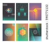retro hipster poster... | Shutterstock .eps vector #590771132