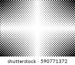 black and white vector texture. ... | Shutterstock .eps vector #590771372