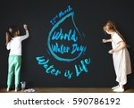 world water day earth... | Shutterstock . vector #590786192