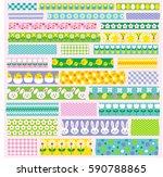easter washi tape clipart | Shutterstock .eps vector #590788865