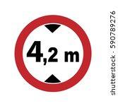prohibitory sign. maximum... | Shutterstock .eps vector #590789276