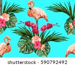 beautiful seamless vector... | Shutterstock .eps vector #590792492