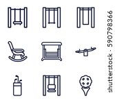 swing icons set. set of 9 swing ... | Shutterstock .eps vector #590798366