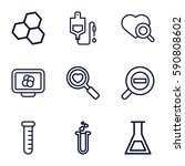 research icons set. set of 9... | Shutterstock .eps vector #590808602