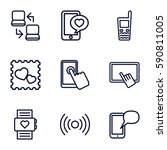 smart icons set. set of 9 smart ... | Shutterstock .eps vector #590811005