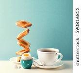 fresh delicious breakfast with... | Shutterstock . vector #590816852