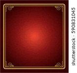 frame red vintage background | Shutterstock .eps vector #590831045