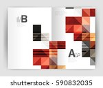modern minimalistic geometrical ... | Shutterstock .eps vector #590832035