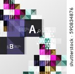 vector square elements on gray...   Shutterstock .eps vector #590834876