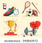 jogging or running shoes ... | Shutterstock .eps vector #590843972