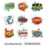 bubble comic speeches for... | Shutterstock .eps vector #590844002