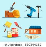 tools or accessories for house... | Shutterstock .eps vector #590844152